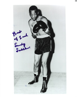 SANDY SADDLER - AUTOGRAPHED SIGNED PHOTOGRAPH