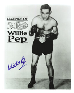 WILLIE WILL O' THE WISP PEP - AUTOGRAPHED SIGNED PHOTOGRAPH