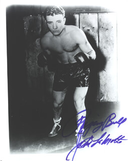 JAKE THE RAGING BULL LA MOTTA - AUTOGRAPHED SIGNED PHOTOGRAPH