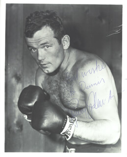 INGEMAR JOHANSSON - AUTOGRAPHED INSCRIBED PHOTOGRAPH