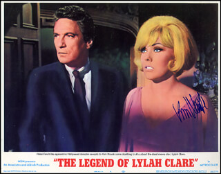 KIM NOVAK - LOBBY CARD SIGNED
