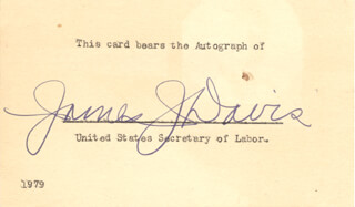 Autographs: JAMES J. DAVIS - SIGNATURE(S)