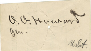 MAJOR GENERAL OLIVER O. HOWARD - AUTOGRAPH