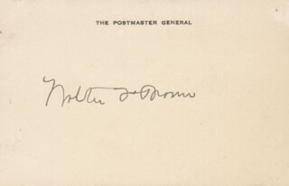 Autographs: WALTER F. BROWN - SIGNATURE(S)