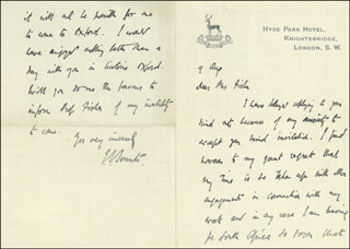 PRIME MINISTER JAN C. SMUTS (SOUTH AFRICA) - AUTOGRAPH LETTER SIGNED 8/9