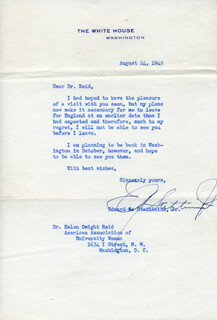 EDWARD R. STETTINIUS, JR. - TYPED LETTER SIGNED 08/24/1945