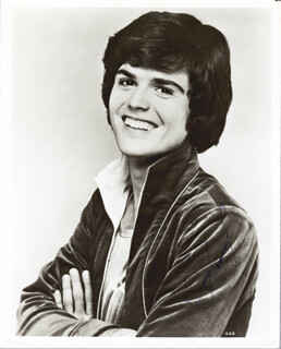 THE OSMONDS (DONNY OSMOND) - AUTOGRAPHED SIGNED PHOTOGRAPH