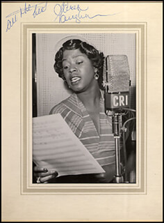 SARAH VAUGHAN - PHOTOGRAPH MOUNT SIGNED