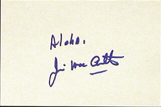 JAMES MacARTHUR - AUTOGRAPH SENTIMENT SIGNED