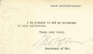 GEORGE H. DERN - TYPED NOTE SIGNED