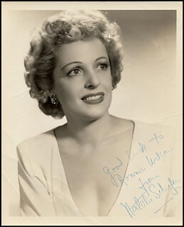 NATALIE SCHAFER - AUTOGRAPHED INSCRIBED PHOTOGRAPH