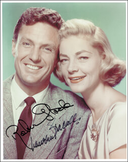 GIFT OF LOVE MOVIE CAST - AUTOGRAPHED SIGNED PHOTOGRAPH CO-SIGNED BY: LAUREN BACALL, ROBERT STACK