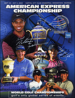 TIGER WOODS - MAGAZINE COVER SIGNED CO-SIGNED BY: FRED COUPLES, BRAD FAXON, JAY HAAS, JIM FURYK, RETIEF GOOSEN, RICH BEEM, CHRIS DIMARCO, JERRY KELLY, LEN MATTICE