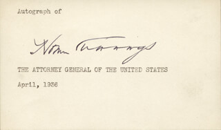 HOMER S. CUMMINGS - AUTOGRAPH CIRCA 1936