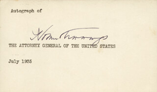 HOMER S. CUMMINGS - AUTOGRAPH CIRCA 1935