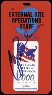 Autographs: PRESIDENT GEORGE W. BUSH - TICKET SIGNED CIRCA 2000