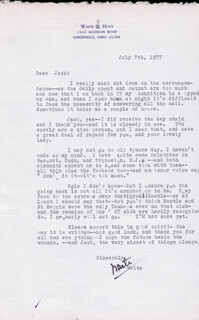 WAITE HOYT - TYPED LETTER SIGNED 07/07/1977