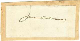 Autographs: JANE ADDAMS - SIGNATURE(S)