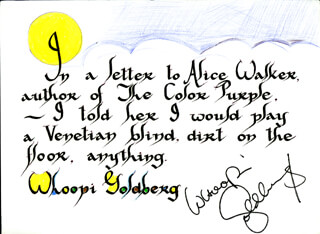 WHOOPI GOLDBERG - QUOTATION SIGNED