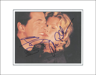 ALEC BALDWIN - BOOK PHOTOGRAPH SIGNED CO-SIGNED BY: KIM BASINGER