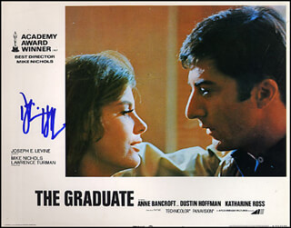 DUSTIN HOFFMAN - LOBBY CARD SIGNED
