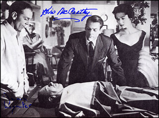INVASION OF THE BODY SNATCHERS MOVIE CAST - AUTOGRAPHED SIGNED PHOTOGRAPH CO-SIGNED BY: DANA WYNTER, KEVIN McCARTHY