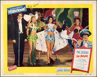 PHIL SILVERS - LOBBY CARD SIGNED