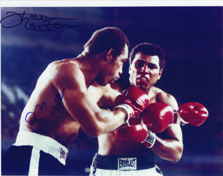 MUHAMMAD THE GREATEST ALI - AUTOGRAPHED SIGNED PHOTOGRAPH CO-SIGNED BY: KEN NORTON - HFSID 265313