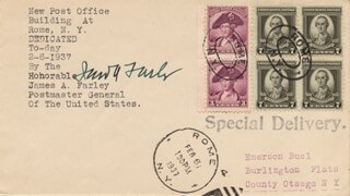 JAMES A. FARLEY - SPECIAL COVER SIGNED