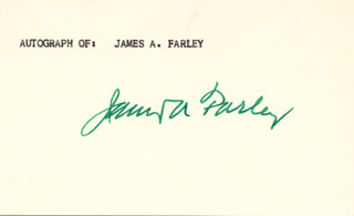 Autographs: JAMES A. FARLEY - SIGNATURE(S)