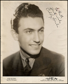 EDDY DUCHIN - AUTOGRAPHED SIGNED PHOTOGRAPH