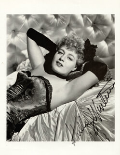 SHELLEY WINTERS - BOOK PHOTOGRAPH SIGNED