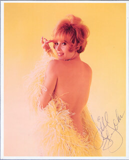 JILL ST. JOHN - BOOK PHOTOGRAPH SIGNED