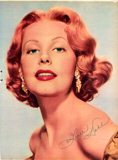 ARLENE DAHL - MAGAZINE PHOTOGRAPH SIGNED