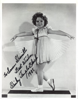 SHIRLEY TEMPLE - INSCRIBED BOOK PHOTOGRAPH SIGNED 1985