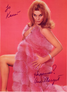 ANN-MARGRET - INSCRIBED BOOK PHOTOGRAPH SIGNED