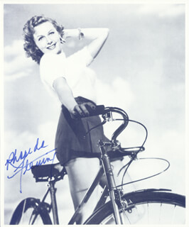 RHONDA FLEMING - BOOK PHOTOGRAPH SIGNED