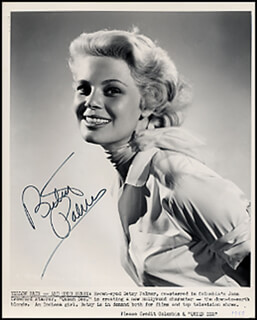 BETSY PALMER - PRINTED PHOTOGRAPH SIGNED IN INK CIRCA 1955