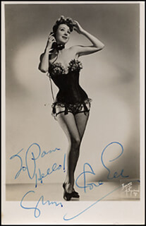 GYPSY ROSE LEE - AUTOGRAPHED INSCRIBED PHOTOGRAPH