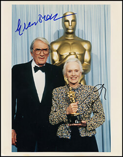 JESSICA TANDY - AUTOGRAPHED SIGNED PHOTOGRAPH CO-SIGNED BY: GREGORY PECK