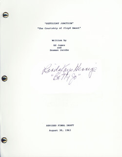 PETTICOAT JUNCTION TV CAST - SCRIPT SIGNED CIRCA 1963 CO-SIGNED BY: LORI SAUNDERS, LINDA KAYE HENNING, JEANNIE C. RILEY