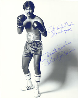CARLOS PALOMINO - AUTOGRAPHED INSCRIBED PHOTOGRAPH