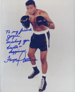 FLOYD PATTERSON - AUTOGRAPHED INSCRIBED PHOTOGRAPH