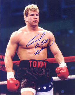 TOMMY MORRISON - AUTOGRAPHED INSCRIBED PHOTOGRAPH