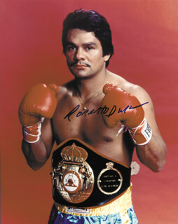 ROBERTO HANDS OF STONE DURAN - AUTOGRAPHED SIGNED PHOTOGRAPH