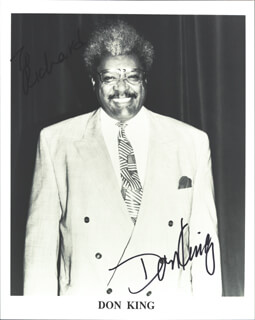 DON KING - AUTOGRAPHED INSCRIBED PHOTOGRAPH