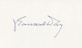 Autographs: J. EDWARD DAY - SIGNATURE(S)