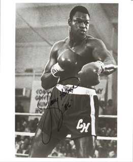 LARRY HOLMES - AUTOGRAPHED SIGNED PHOTOGRAPH 1986