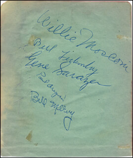 GENE SARAZEN - AUTOGRAPH CO-SIGNED BY: WILLIE MOSCONI, PAUL ARIZIN