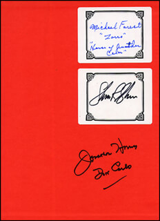 ZORRO CASTS - BOOK SIGNED CIRCA 1991 CO-SIGNED BY: GEORGE HAMILTON, EFREM ZIMBALIST JR., LAUREN HUTTON, GUY MADISON, JONATHAN HARRIS, MICHAEL FOREST, DON DIAMOND